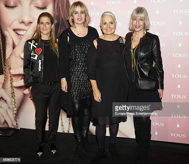 Alba Tous, Rosa Tous, Rosa Oriol and Laura Tous attend the 'Tender Stories' campaign presentation photocall at TOUS flagship store on November 25,...