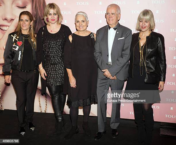 Alba Tous, Rosa Tous, Rosa Oriol, Salvador Tous and Laura Tous attend the 'Tender Stories' campaign presentation photocall at TOUS flagship store on...