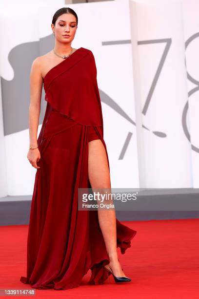 """Alba-Amira Ramadani attends the red carpet of the movie """"Freaks Out"""" during the 78th Venice International Film Festival on September 08, 2021 in..."""