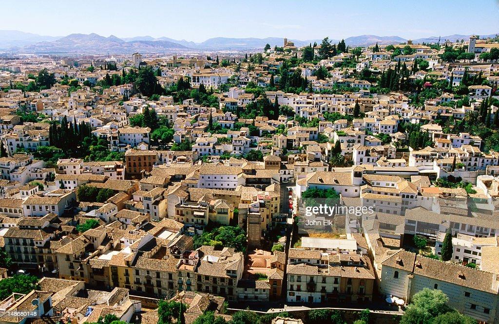 Albaicin quarter from Alhambra. : Foto de stock