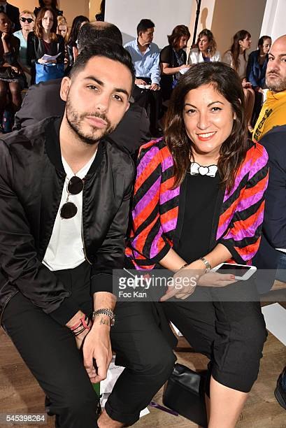 Alban Bartoli and Leslie Benaroch attend the Dany Atrache Haute Couture Fall/Winter 20162017 show as part of Paris Fashion Week on July 4 2016 in...