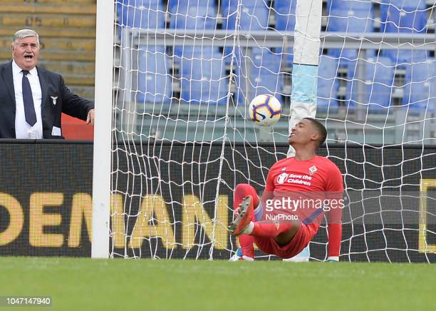 Alban Lafont during the Italian Serie A football match between SS Lazio and Fiorentina at the Olympic Stadium in Rome on october 07 2018
