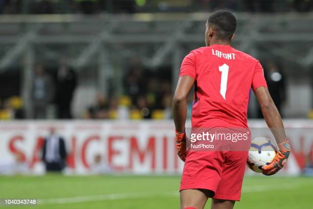 Alban Lafont during the Serie A football match between FC Internazionale and ACF Fiorentina at Stadio Giuseppe Meazza on September 25 2018 in Miilan...