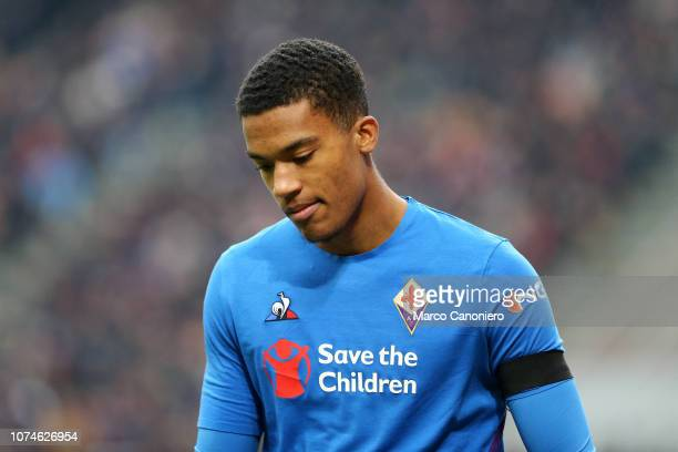 Alban Lafont of AFC Fiorentina during the Serie A match between Ac Milan and ACF Fiorentina Acf Fiorentina wins 10 over Ac Milan