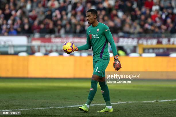 Alban Lafont of AFC Fiorentina in action during the Italia Tim Cup football match between Torino Fc and ACF Fiorentina Afc Fiorentina wins 20 over...