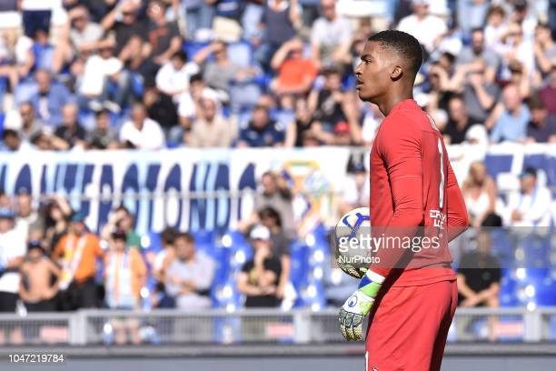 Alban Lafont of Fiorentina during the Serie A match between Lazio and Fiorentina at Stadio Olimpico Rome Italy on 7 October 2018