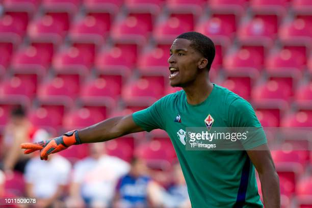 Alban Lafont of Florence looks on during the Opel Cup match between Mainz 05 and AC Florence at Opel Arena on August 5 2018 in Mainz Germany
