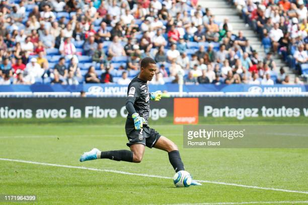 Alban LAFONT of Nantes during the Ligue 1 match between Lyon and Nantes on September 28, 2019 in Lyon, France.