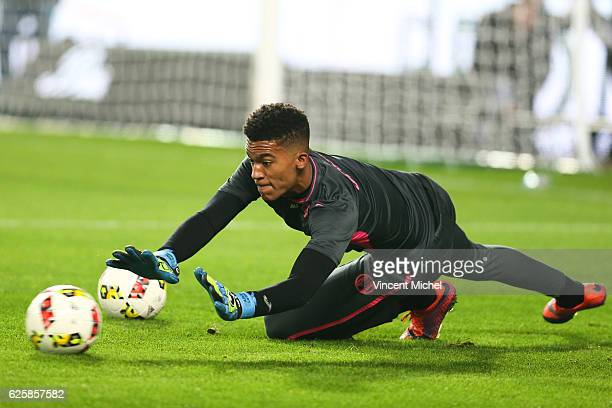 Alban Lafont of Toulouse during the French Ligue 1 match between Rennes and Toulouse at Roazhon Park on November 25 2016 in Rennes France