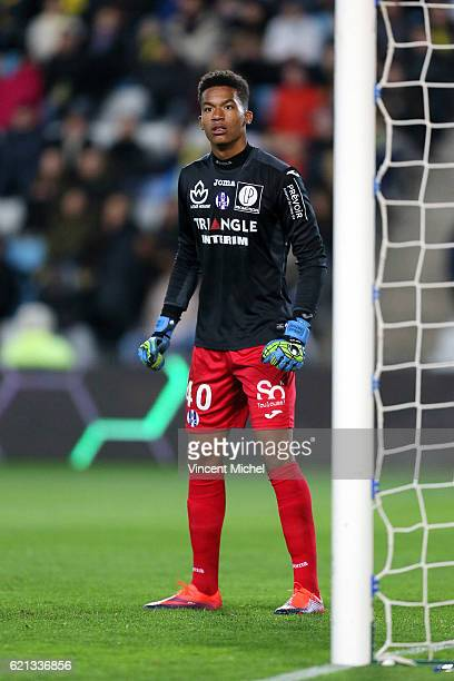 Alban Lafont of Toulouse during the Ligue 1 match between Fc Nantes and Toulouse Fc at Stade de la Beaujoire on November 5 2016 in Nantes France