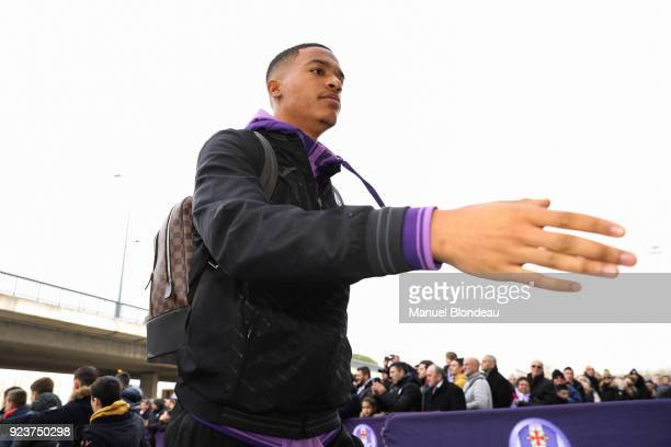 Alban Lafont of Toulouse during the Ligue 1 match between Toulouse and AS Monaco at Stadium Municipal on February 24 2018 in Toulouse