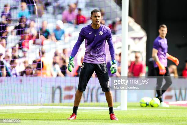 Alban Lafont of Toulouse during the Ligue 1 match between Toulouse and Lille OSC at Stadium Municipal on May 6 2018 in Toulouse