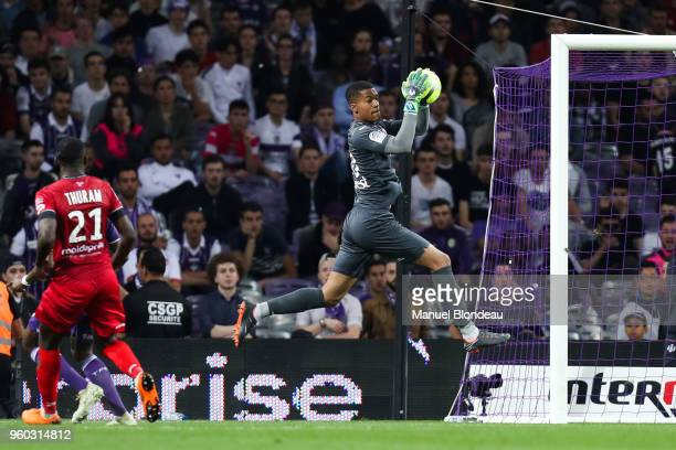 Alban Lafont of Toulouse during the Ligue 1 match between Toulouse and EA Guingamp at Stadium Municipal on May 19 2018 in Toulouse