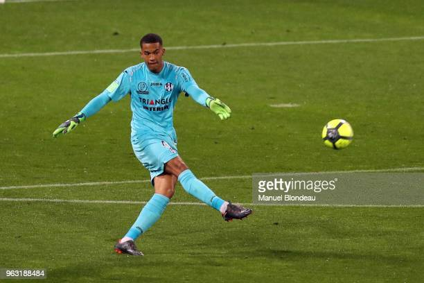 Alban Lafont of Toulouse during the Ligue 1 playoff match between Toulouse and AC Ajaccio on May 27 2018 in Toulouse France