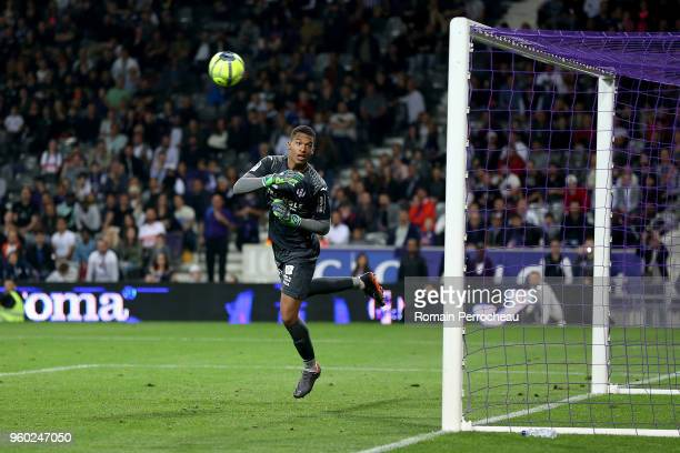 Alban Lafont of Toulouse looks on during the Ligue 1 match between Toulouse and EA Guingamp at Stadium Municipal on May 19 2018 in Toulouse