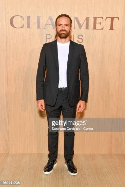 Alban Lenoir attends the 'Tresors d'Afrique' Unvelling Of Chaumet High Jewelry Party as part of Haute Couture Paris Fashion Week on July 1 2018 in...