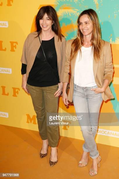 Albane Cleret and Actress Agathe de La Fontaine attend 'MILF' Paris Premiere at Cinema Gaumont Capucine on April 17 2018 in Paris France