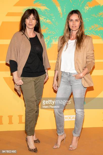 Albane Cleret and actress Agathe de la Fontaine attend the 'MILF' Premiere at Cinema Gaumont Capucine on April 17 2018 in Paris France