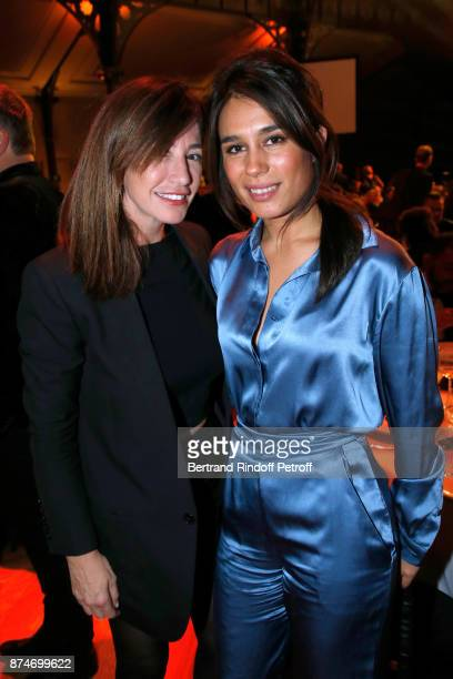 Albane Cleret and Emilie Tran Nguyen attend the GQ Men of the Year Awards 2017 at Le Trianon on November 15 2017 in Paris France