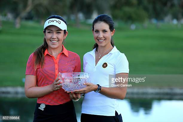 Albane Valenzuela of Switzerland and Hannah O'Sullivan of the United States the two leading amateurs after the final round of the 2016 ANA...