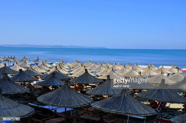 albania. beach in the resort area durres - albania stock pictures, royalty-free photos & images
