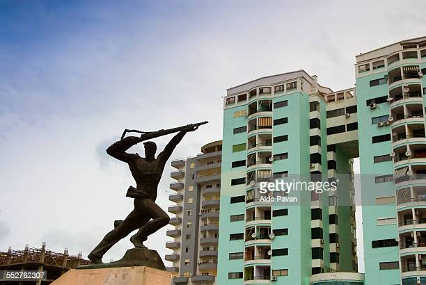 Albania, Durres, monument to the resistance