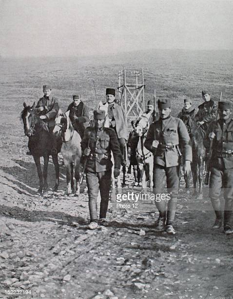 Albania Insurrection of Cena Beg commander of the Luma contingent Column of insurgents marching on Tirana