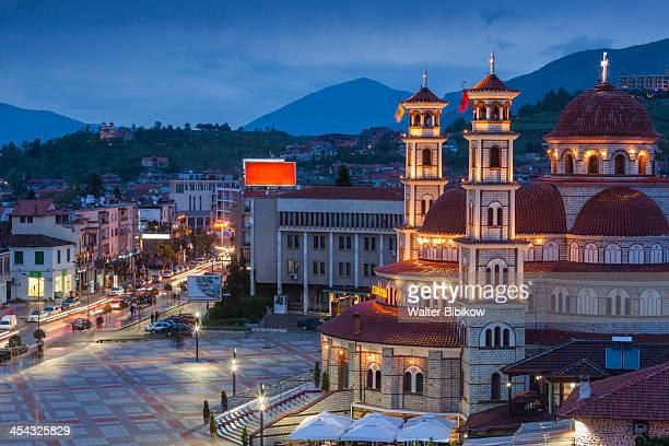 albania, korca - albanië stockfoto's en -beelden