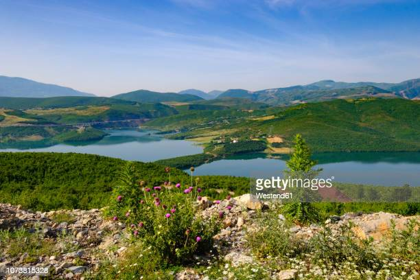 albania, kukes, county, fierza reservoir, drin river - albania stock pictures, royalty-free photos & images