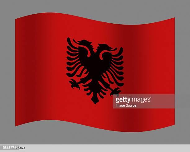 albania - bandiera albanese foto e immagini stock