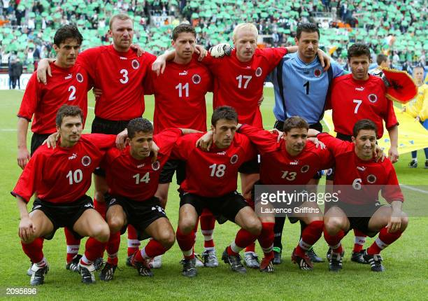 Albania team group taken before the UEFA European Championships 2004 Group 10 Qualifying match between Republic of Ireland and Albania held on June 7...