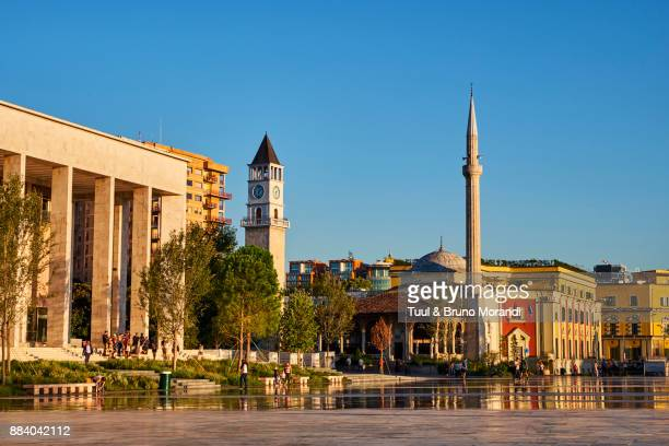 Albania, Tirana, Skanderbeg square