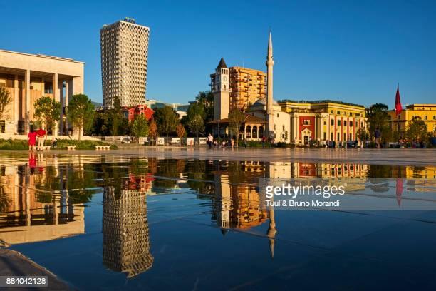 albania, tirana, skanderbeg square - tirana stock pictures, royalty-free photos & images