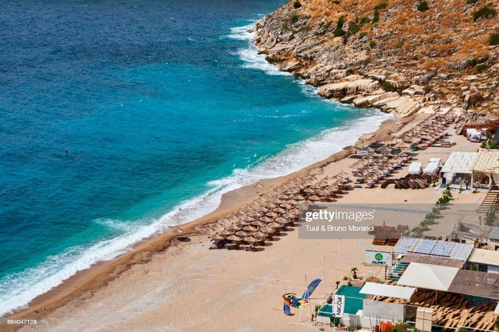 Albania Vlore Province Himara Llaman Bay Himara Beach High