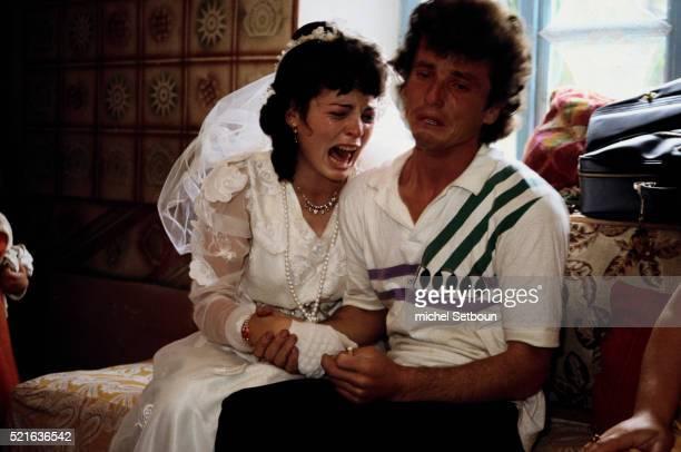 Albanian Bride and Groom Crying