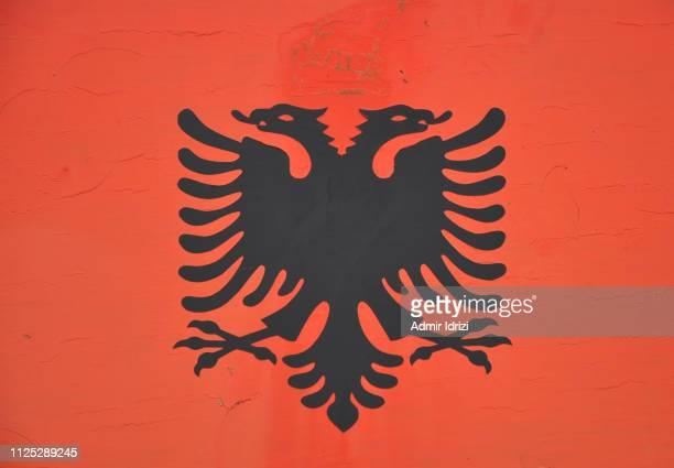 albanian flag - bandiera albanese foto e immagini stock