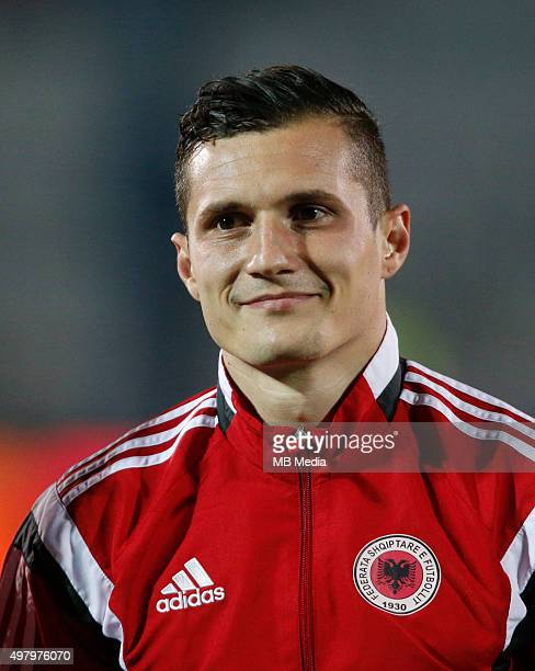 Albanian National soccer team player Taulant Xhaka prior to the International friendly soccer match Albania vs Georgia held in Tirana Albania on 16...