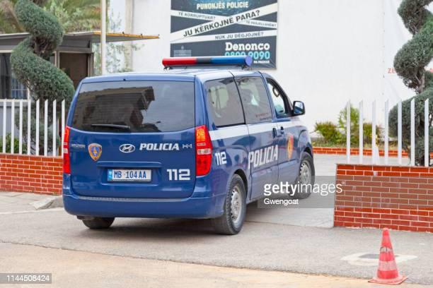 Albanian police van