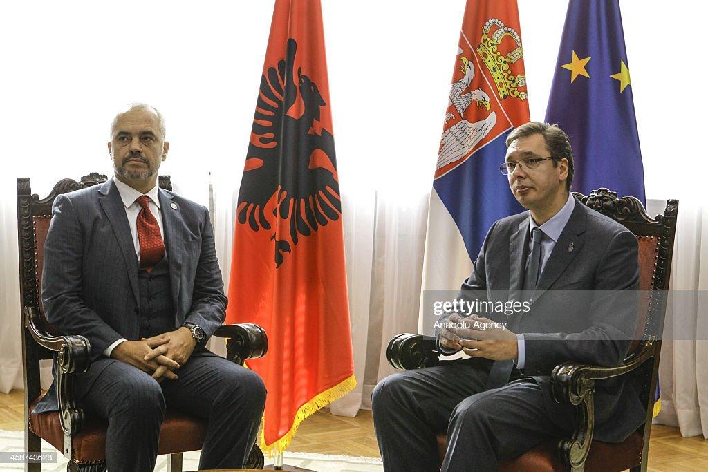 Albanian PM Rama meets his Serbian counterpart in Belgrade : News Photo