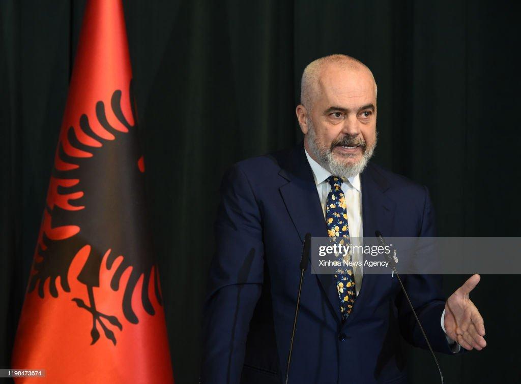 ALBANIA-TIRANA-EUROPEAN PARLIAMENT-PRESIDENT-VISIT : News Photo