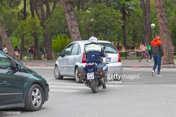 Albanian road police biker