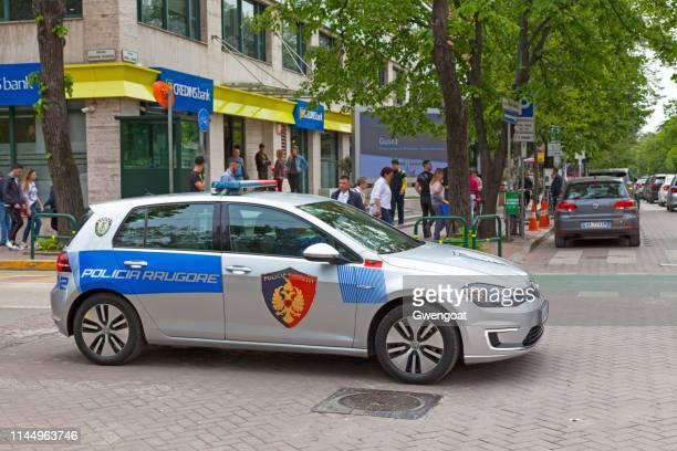 Albanian road police car