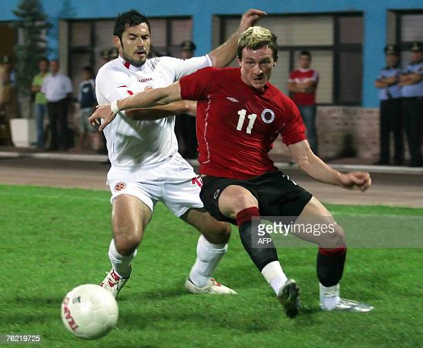 Albania's Besart Berisha vies with Malta's Etiene Barbara during a friendly football match 22 August 2007 in Tirana AFP PHOTO / GENT SHKULLAKU