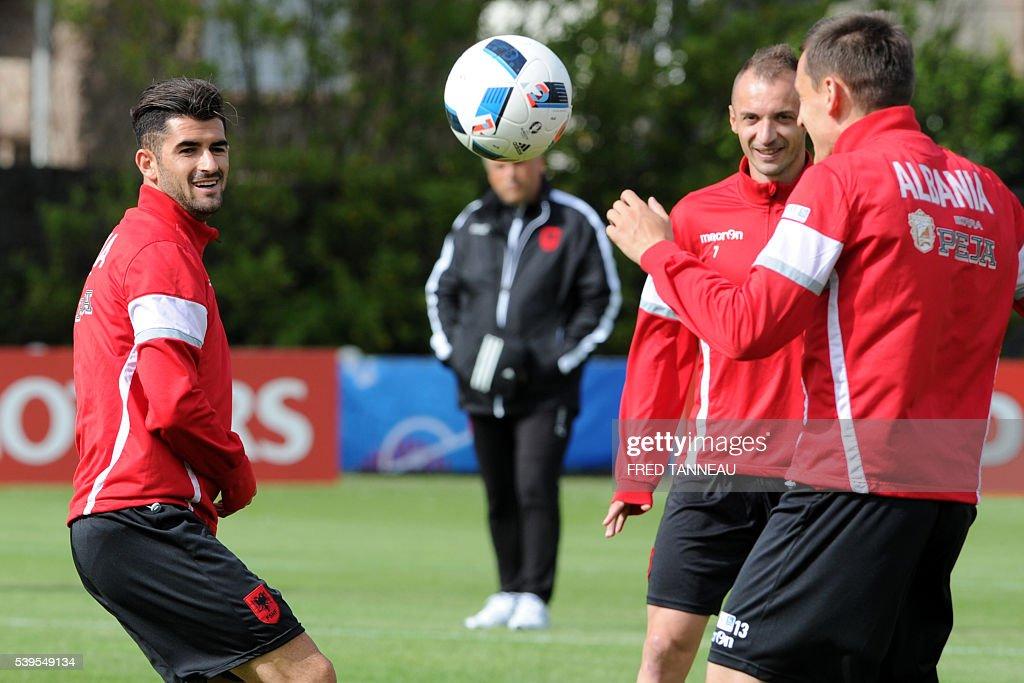 FBL-EURO-2016-ALB-TRAINING : News Photo
