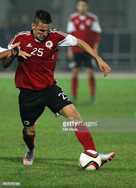 Albania's National soccer team player Rey Manaj in action during the International friendly soccer match Albania vs Georgia held in Tirana Albania on...
