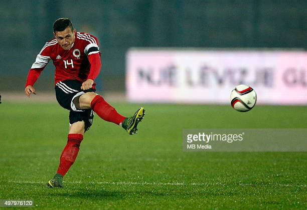 Albania's National soccer team player Taulant Xhaka in action during the International friendly soccer match Albania vs Georgia held in Tirana...