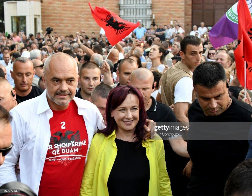 ALBANIA-POLITICS-VOTE : Foto di attualità