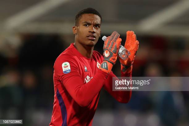 AlbanMarc Lafont of ACF Fiorentina in action during the Serie A match between ACF Fiorentina and AS Roma at Stadio Artemio Franchi on November 3 2018...