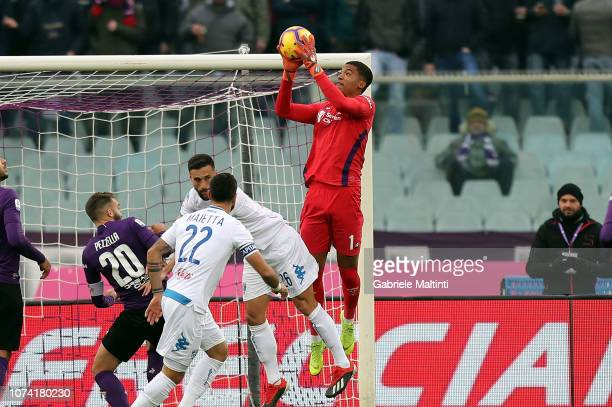 AlbanMarc Lafont of ACF Fiorentina in action during the Serie A match between ACF Fiorentina and Empoli at Stadio Artemio Franchi on December 16 2018...