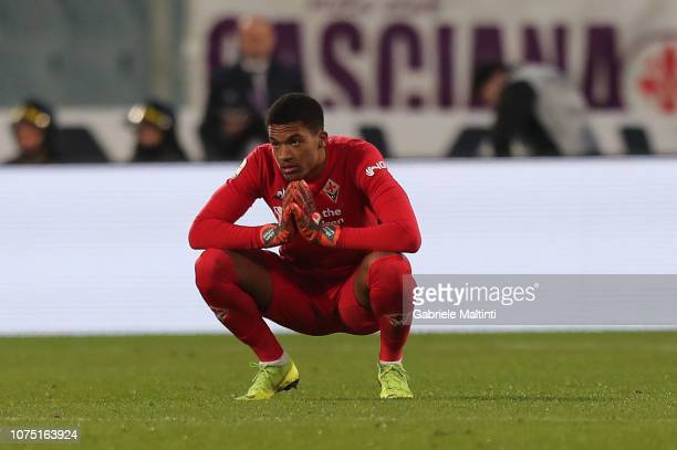 AlbanMarc Lafont of ACF Fiorentina reacts during the Serie A match between ACF Fiorentina and Parma FC at Stadio Artemio Franchi on December 26 2018...